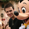 Kris Allen and Mickey Mouse on his visit to Disney's Hollywood Studios™ Park after winning American Idol Season 8!