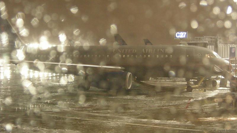 Verglas sur l'aéroport de Chicago