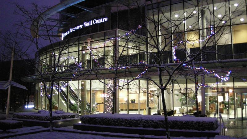 Illuminations de noël près de l'hôtel