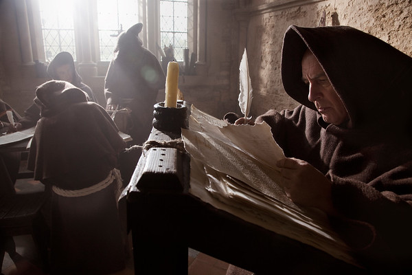 Translating the Bible, Lacock Abbey, Wiltshire, England