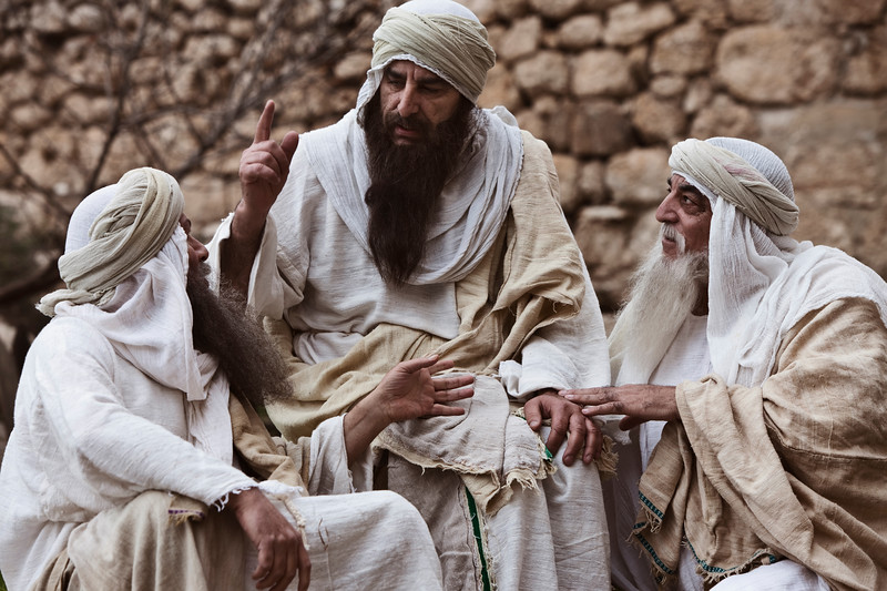 Saint Jerome and Priests Discussion, Jerusalem