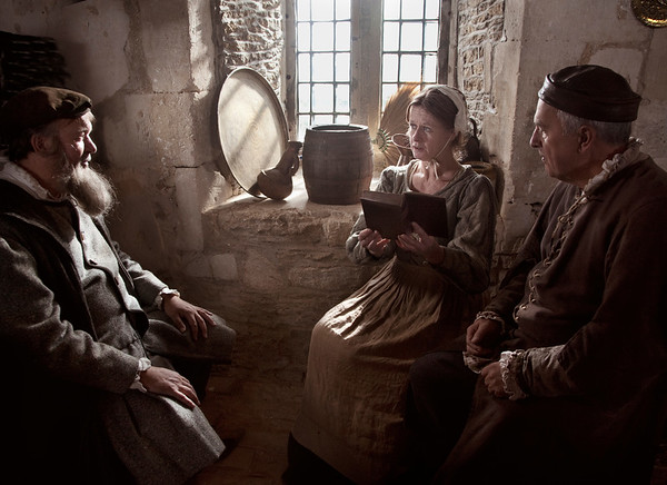 Reading to the Patrons, Lacock Abbey, UK