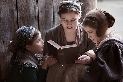 Family Bible Scripture Study, Berkley Castle, England