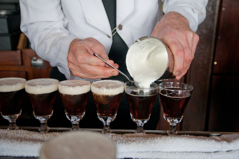 making Irish coffee in bulk, SF