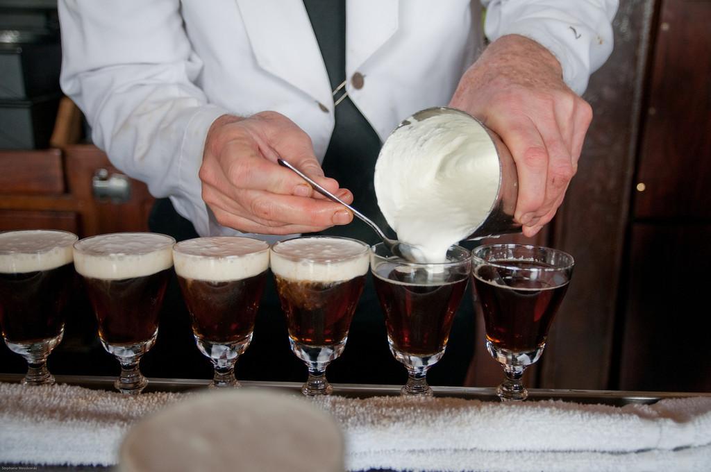 making Irish coffee in bulk, SF