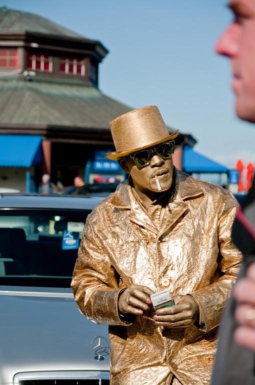 street performer, San Francisco