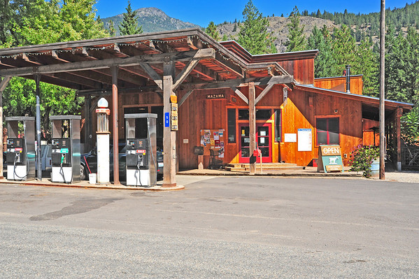 Winthrop, Twisp Scenes; Mazama  Birding Trail, Store on Goat Creek Road, 9-15-13