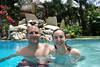Jen and Andrew Goldman In the pool at the Hotel Villa Taina, Cabarate, Dominican Republic