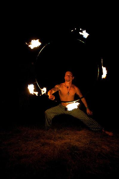Fire Dancer - The Big Up Festival, 2010