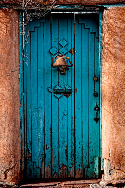 Blue Door & Bell - Santa Fe, NM
