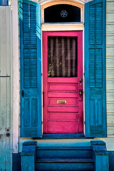 Red Door, Blue Shutters - New Orleans