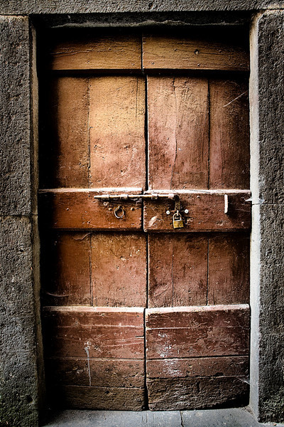 Reddish Brown Door - Tuscany, Italy