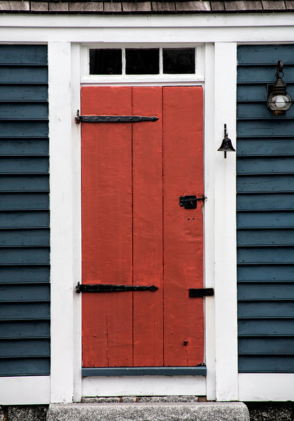 Red Door & Strap Hinges - Nova Scotia