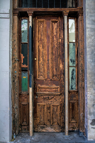 Narrow Brown Door - New Orleans