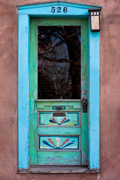 Blue Door & Highlights - Santa Fe, NM