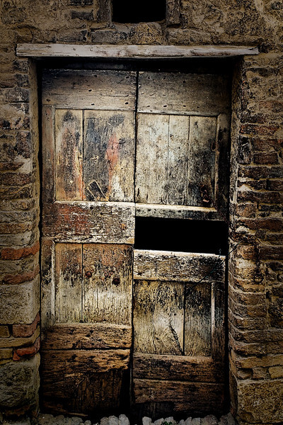 Very Worn Door - Tuscany, Italy