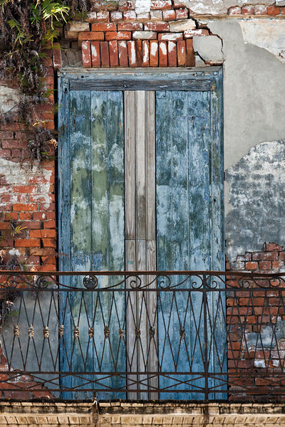 Blue/Gray Door - New Orleans