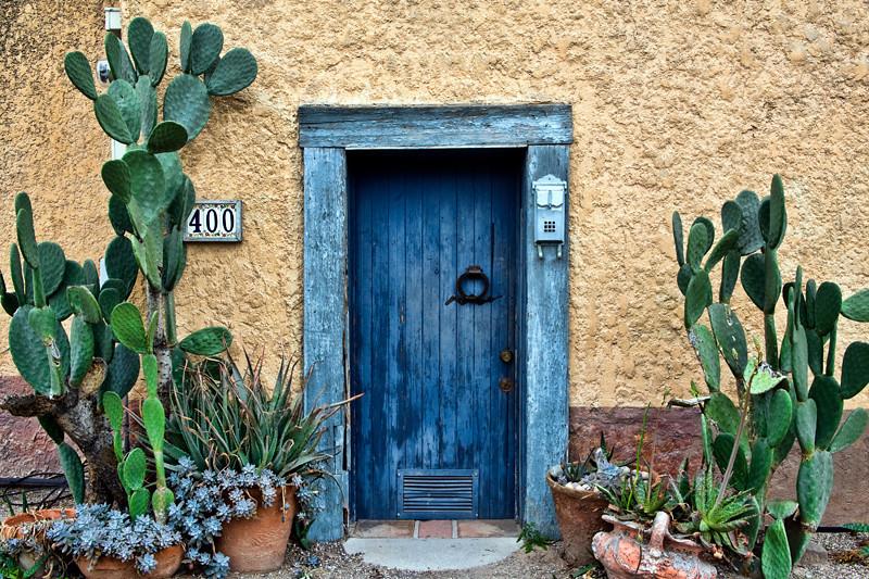 Blue Door & Cactus - Tucson