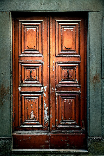 Shiny Brown Doors - Tuscany, Italy