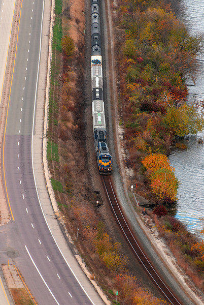 Fall Train along the Mississippi River, MN