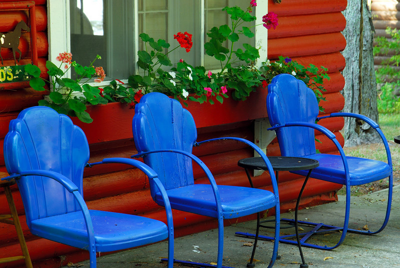 Blue Cabin Chairs