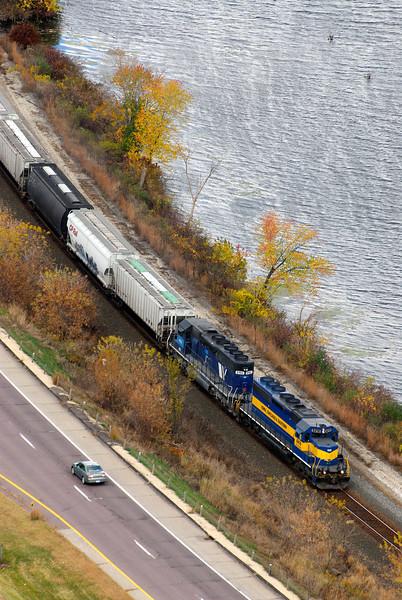 Train along the Mississippi River - Minnesota