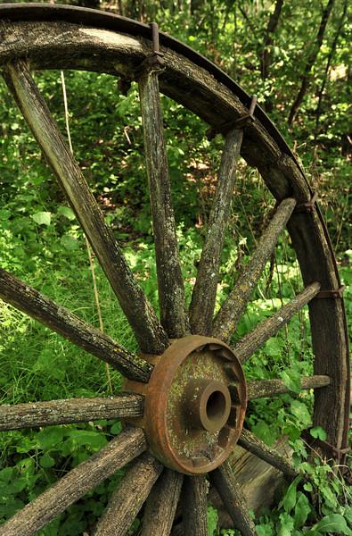 Wagon Wheel shot near the Harkin Store - Minnesota