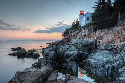 Bass Lighthouse Reflection, Bass Harbor, Me.