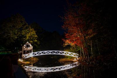 #683 Somesville Bridge at Night