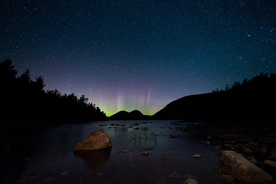 #643D Northern Lights over Jordan Pond