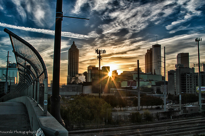 Sunrise over the city. Atlanta GA