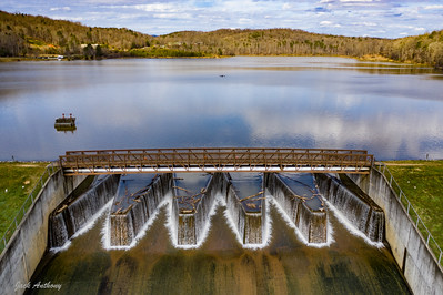 The dam at Zwerner Lake in Dahlonega, Ga.