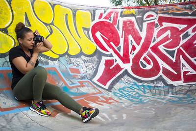Angenette at the FDR Skate Park