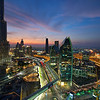View from the Address Hotel, Business Bay, Dubai
