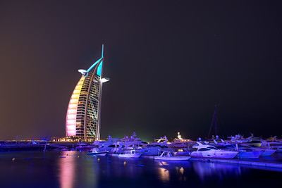 Dubai. Burj Al Arab and marina.