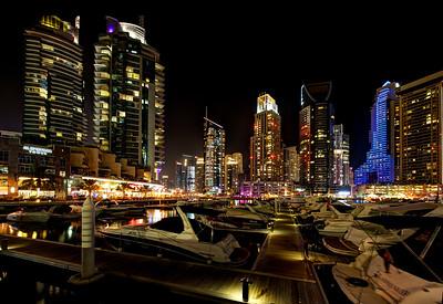 Dubai Marina. Boats.