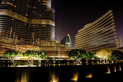 Dubai. Base of the Burj Khalifa.