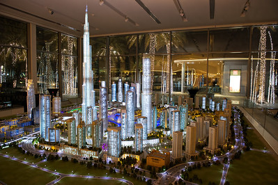 Model of Downtown Dubai in the Emaar Pavillion, Business Bay, Dubai