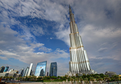 Dubai. Burj Khalifa, Emaar Buildings. Dubai Mall.