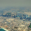Downtown Dubai and Business Bay with the world's tallest building, Burj Khalifa. Safa Park to the right.