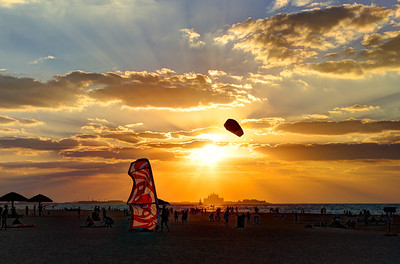 Dubai. Kite Beach sunset.