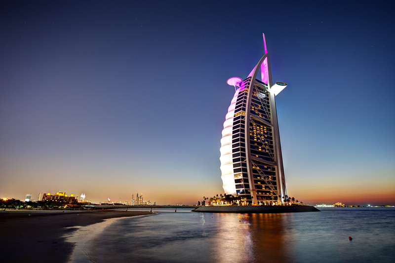 Dubai. Burj Al Arab at sunset Dubai. Burj Al Arab at sunset
