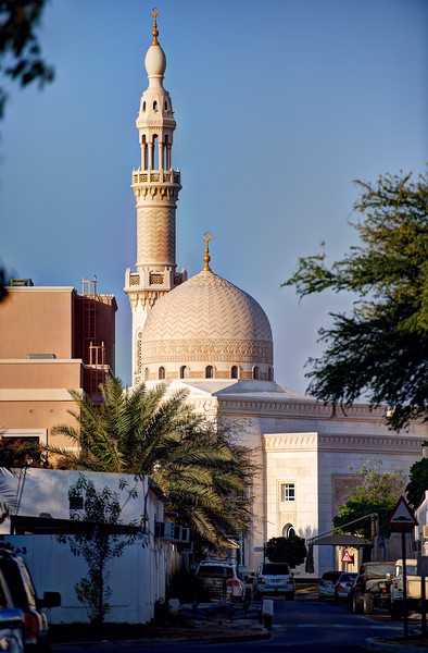 Mosque in Jumeirah behind the Offshore Sailing Club, Dubai.