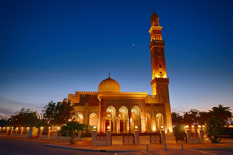 One of the many mosques in Jumeirah. This is the one closest to Kite Beach.