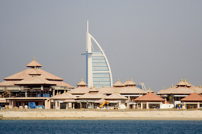 Burj Al-Arab across Palm Jumeirah properties