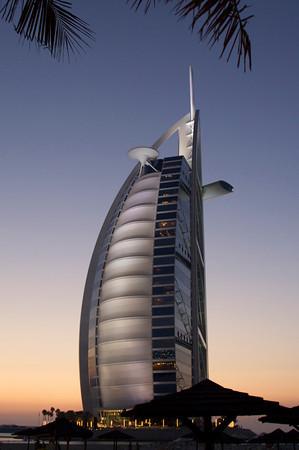 Burj Al-Arab at dusk