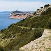 Stone path leads downhill