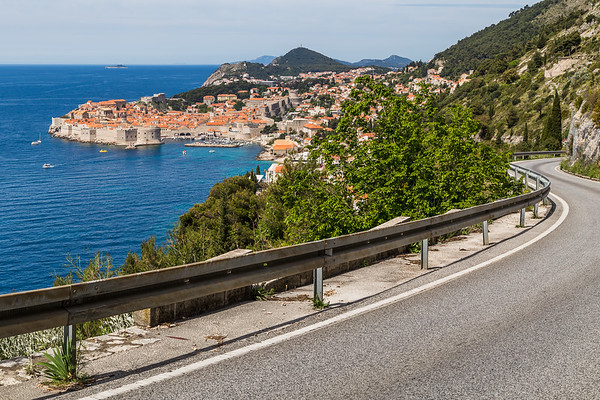 Meandering coastal road towards Dubrovnik
