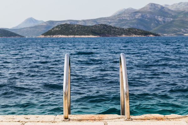 Steps down to the Adriatic Sea