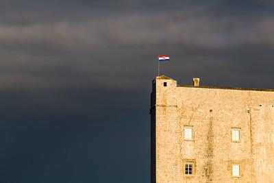 St John's Fortress lit up